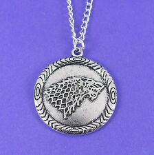 HOUSE OF STARK WOLF NECKLACE winter is coming game of thrones GoT direwolf