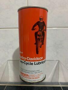 Vintage Harley Davidson Motor Cycle Lubricant Tin - Motor Oil Petrol Tin