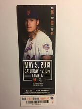 NEW YORK METS  VS COLORADO ROCKIES MAY 5,2018  TICKET STUB