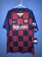 FC Barcelona Home Soccer Men's Jersey Rakuten Size XL