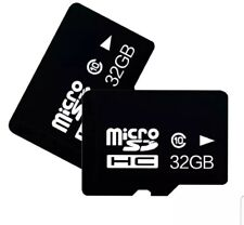 Micro SD Card 32GB TF Class 10 Android Nintendo Samsung with Adapter and 2 pack