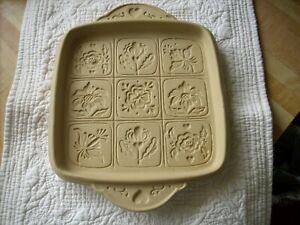 Brown Bag Cookie Art Mold Stoneware 2009 Hill Design - 9 Cut Apart Flowers