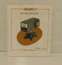 Goldbeam Tele-Cine Converter Owners Manual