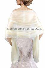Evening Dress Silky Cream  Bridal Bridesmaid Wedding Prom Shawl Stole Wrap