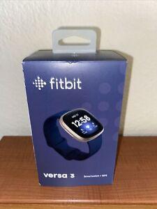 Fitbit Versa 3 Health & Fitness Smartwatch w/ GPS - Midnight Blue - Brand new