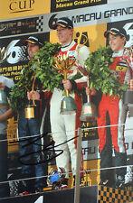 Alex Lynn firmato, F3 MACAU VITTORIA podio Ritratto 2013, GP3 CHAMPION 2014