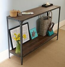 Console Hall Table artisan urban vintage Pewter colour finish