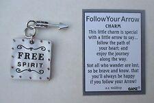 cc Free Spirit FOLLOW YOUR ARROW Pocket Charm token Ganz independent boho
