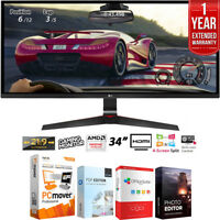 "LG 34UM69G-B 34"" 21:9 UltraWide IPS Gaming Monitor +Extended Warranty Pack"