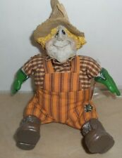 "10"" Russ Berrie Harvest Time Folks, Scare E. Crow Hand Painted Shelf Sitter"