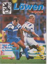 Programm   TSV 1860 München - Karlsruher SC   1. Bundesliga Saison 1994/95