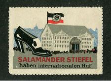 Vintage Poster Stamp Label SALAMANDER STIEFEL Shoes German womens high heel