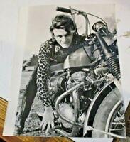 foto originale ag. stampa 18,3 x 24 RENATO DEI PROFETI _ MOTO BSA anni 60
