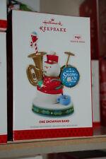 Hallmark 2013 One Snowman Band Ornament sound magic