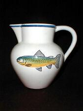 Portuguese Pottery Ceramic Eddie Bauer Rainbow Trout FISH 48 oz  Pitcher