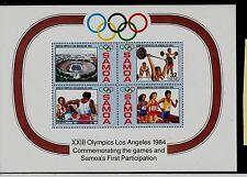 Samoa Sc 632a NH Souvenir Sheet of 1984 - Alympics