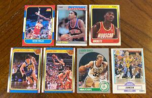 1980s & Early 90s BASKETBALL HOF/STAR CARD LOT(7) Larry Bird Magic Johnson READ