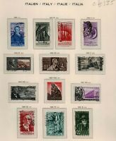 Italy 1955/62 collection of commemorative and definitive issues with '57 Stamps