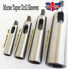 Pack of MT1 MT2 MT3 MT4 Morse Taper Reducing Adapter Drill Sleeve Lathe Milling