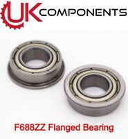 F688ZZ 8x16x5mm Flanged Deep Groove Ball Bearing Miniature - CNC 3D Printer