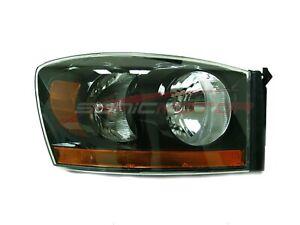 For 2006 Dodge Ram 1500/2500/3500/4000 Passenger Side Headlight RH Black Bezel