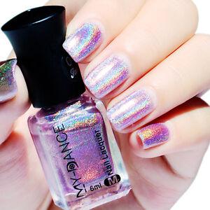 6ml Nail Polish Holographicsssss Hologram Glitter Nail Art  Varnish Purple