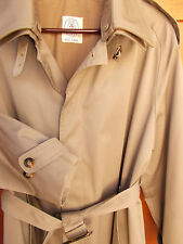 JG Hook Trench Coat Mens 40R Wool Button Out Liner Brown Rain Overcoat