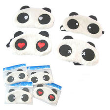 Fashion Soft Plush Panda Eye Lightproof Mask Blindfold Comfortable Nap Cover