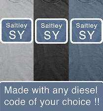 Diesel class 37 depot code loco trains model railways t shirt