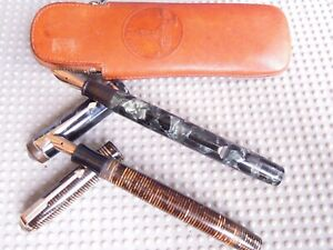 2 BEAUTIFUL VINTAGE FOUNTAIN PENS: PARKER VACUMATIC AND CONWAY STEWART NO.286!!