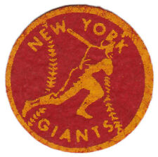 "1940'S/50'S New York Giants Mlb Baseball Vintage 2"" Team Patch Red Yellow"