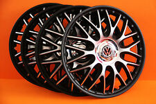 "15 ""VOLKSWAGEN transp. T4, caddy, polo... ENJOLIVEURS / couvre, Caps HUB, black & SILV"