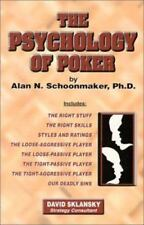 The Psychology of Poker by Alan N. Schoonmaker (English) Paperback Poker Book