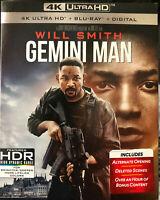 GEMINI MAN (4K ULTRA HD+ BLU RAY +DIGITAL+SLIPCOVER, 2020) WILL SMITH NEW