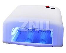 36W Nail Art LED UV Gel Curing Lamp Dryer Timer Polish Kit White 110-220V