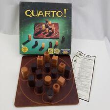Quarto! Board Game Wooden Piece Strategy Vintage Mensa Select Complete Quarto