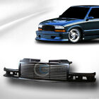 Fit 98-04 Chevy S10 Blazertruck Glossy Blk Horizontal Front Bumper Grill Grille
