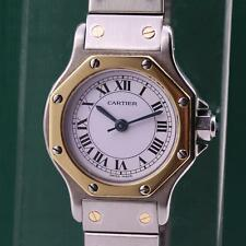 CARTIER SANTOS OCTAGON STAINLESS STEEL & GOLD AUTOMATIC LADIES WATCH