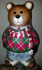 1999 Neiman Marcus Cookie Jar Sweater Teddy Bear Nostalgic Collectible, Keepsake