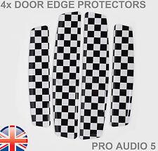 4x nero e bianco porta bordo Protettori-universale adatta auto furgoni camion-UK POST