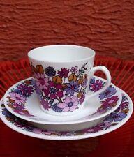 vintage retro 60's Elizabethan portobello no. 2 bone china trio cup & saucer set