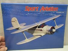 Sport Aviation Magazine November 1992 Airplane Aircraft Jim Porter's Staggerwing
