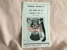 More details for 1960,s rare programme football writers xi v the show biz xi with sean connery in