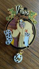 Villains Christmas Event Cruella De Vil Disney Paris LE 300 Dlrp Dlp Dangle pin