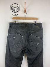 883 POLICE, Mens W34 L32, Dark Blue Coated Denim Wash, Angled Pocket Jeans,*VGC*