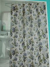 NEW Waverly BLUE HYDRANGEA FLORAL Fabric SHOWER CURTAIN Arlington Height COTTAGE