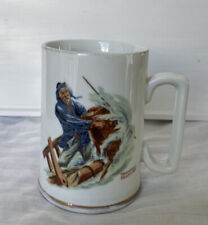 Norman Rockwell /1985 Seafarer's Tankard Collection Mug / Braving The Storm Mint