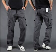 US Mens Cargo Work Pants Combat Military Trousers Travel/Outdoor Cotton W30