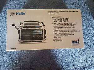 Kaito KA550 5-Way Powered AM/FM Shortwave NOAA Weather Emergency Radio with PEAS