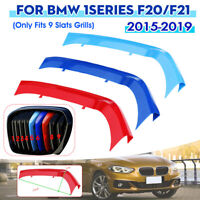 3pcs Front Center Kidney Grille Grill Strip Cover Trim For BMW 1 Series F20 F21